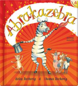 okładka książki Helen i Thomasa Docherty Abrakazebra