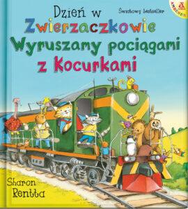 okładka książki Wyruszamy pociągami z Kocurkami Sharon Rentta